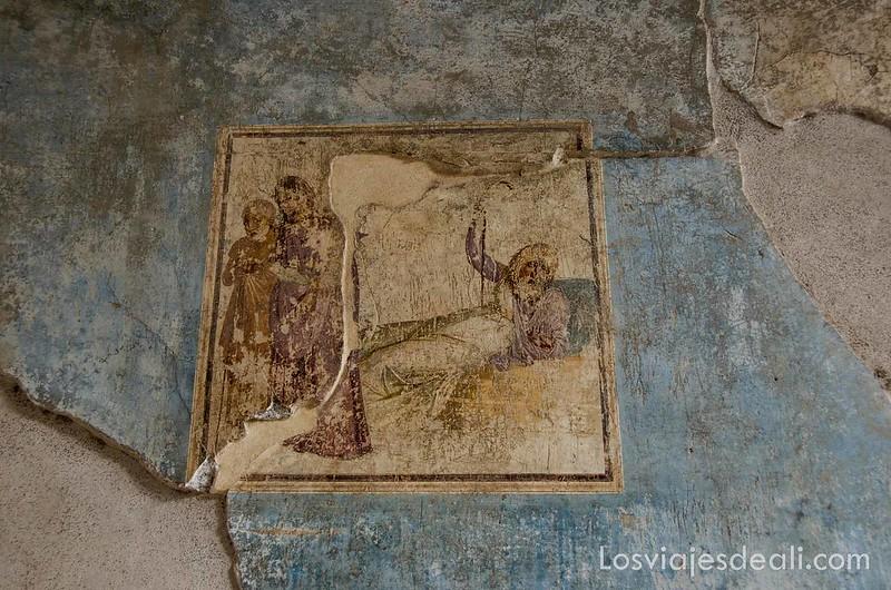 visita a Pompeya frescos
