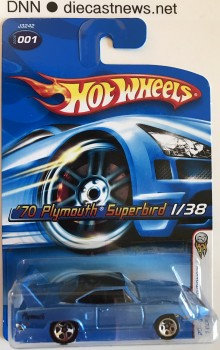 2006 Hot Wheels, '70 Plymouth Superbird, 2006 First Editions 1/38