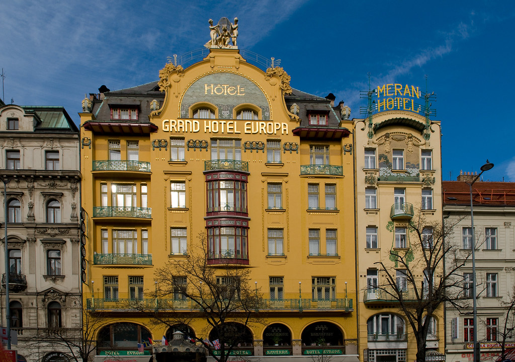 grand hotel europa and meran hotel at wenceslas square in flickr. Black Bedroom Furniture Sets. Home Design Ideas
