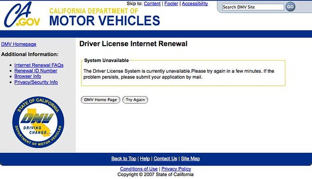 california dmv driver license internet renewal | this occurr… | flickr