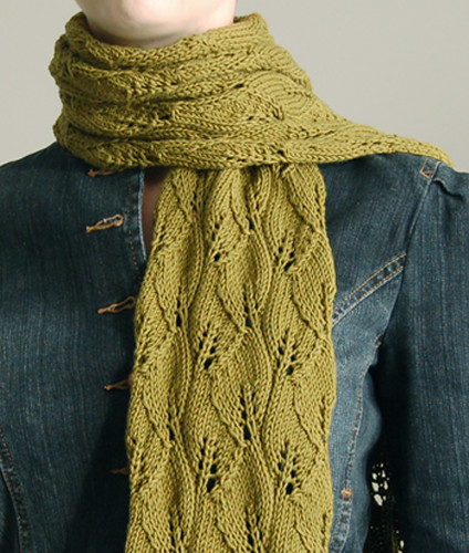 Leaf Lace Scarf Pattern Leaf Lace Scarf From Vogue Knitti Flickr