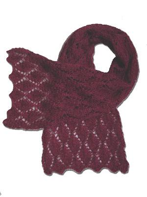 cherry leaf scarf - free knitting pattern Cherry Leaf Scar? Flickr