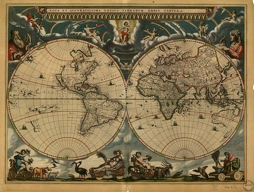 No Known Restrictions: Nova et accuratissima totius terrarum orbis tabula, ca. 1660s from Map Collections at Library of Congress (LOC) | by pingnews.com