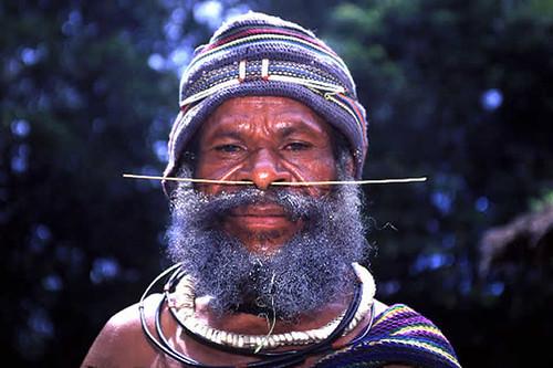 Highlands man with bone through nose | Flickr - Photo Sharing!