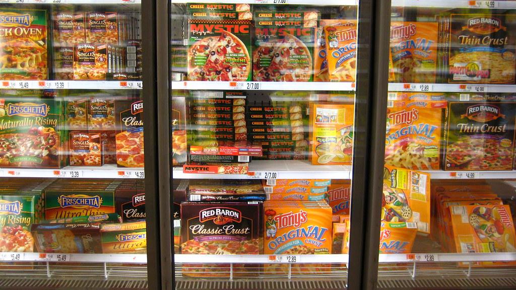 Grocery Store Frozen Food