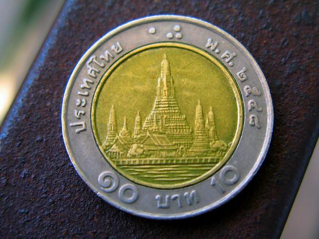 Euromünzen Verwechslung 10 Bath Münze Und 2 Euro