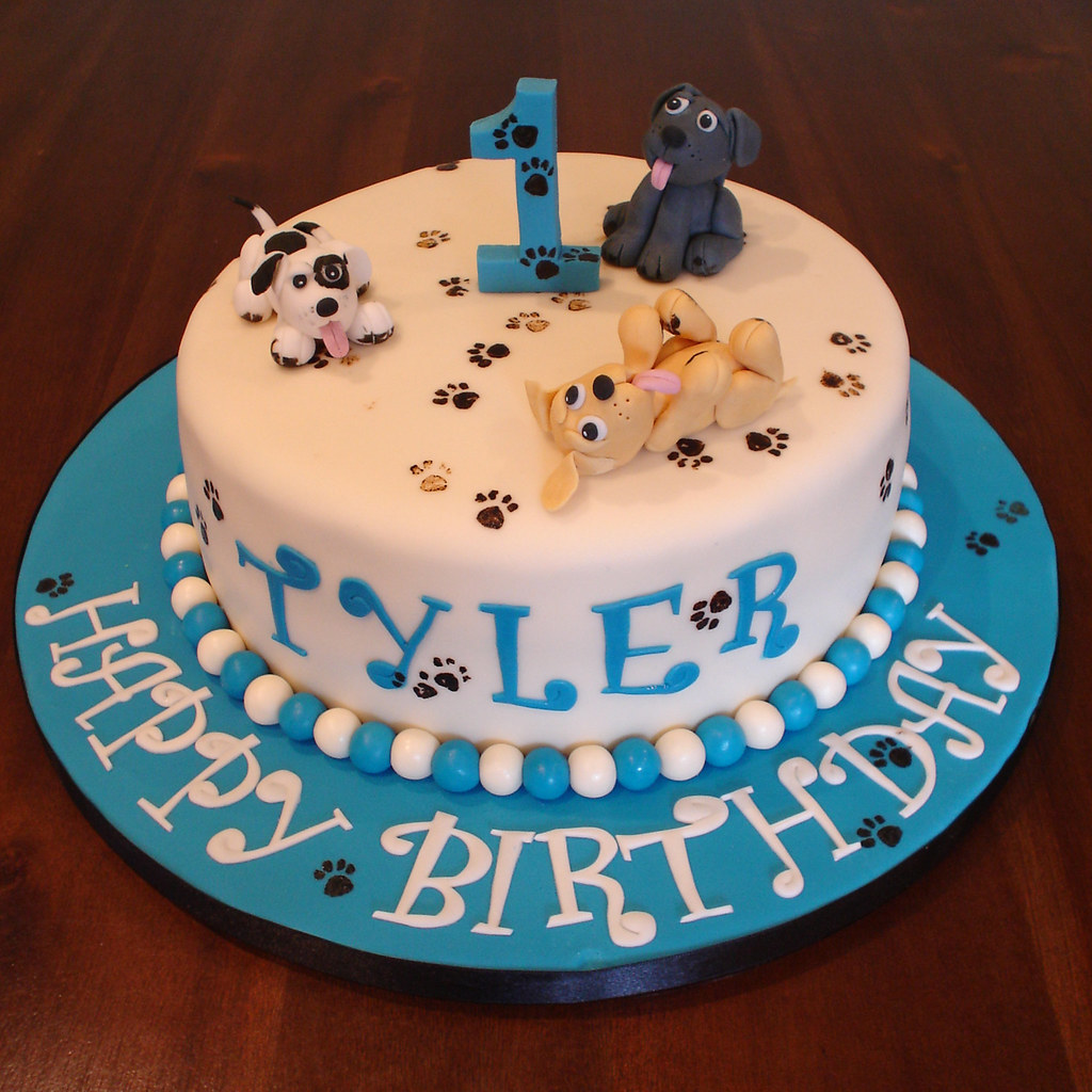 Birthday Cake Images For Dog : Naughty puppies 1st birthday cake I made this cake for ...