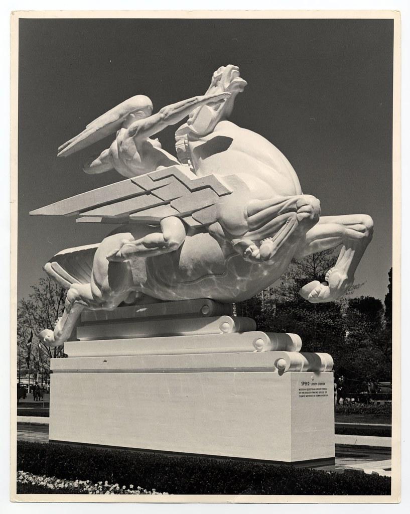 Joseph E Renier S Plaster Statue Quot Speed Quot At The 1939 New