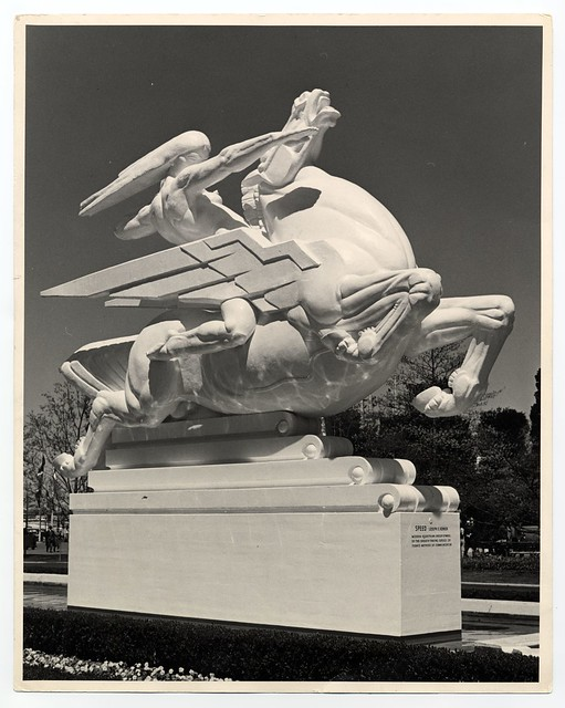 "Joseph E. Renier's Plaster Statue ""Speed"" at the 1939 New York World's Fair Court of Communications Building (New York, NY)"
