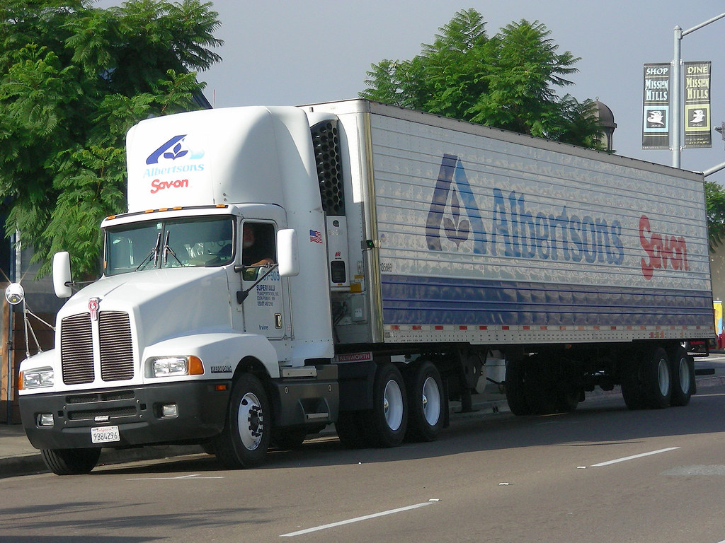 Penske San Diego >> Albertsons   Kenworth truck operated by Supervalu subsidiary…   Flickr