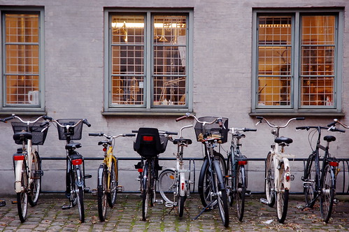 The trumpet repair shop had plenty of bike parking. | by Alex Cheek