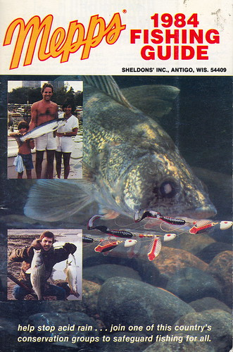 Fishing collectible 1984 mepps catalog and how to fisherma for Free fishing catalogs