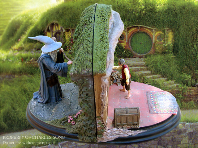 Sideshow weta no admittance bookends this photo is ancie flickr - Lord of the rings bookends ...