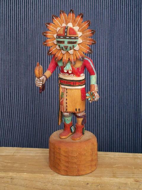 Sun Kachina 1   Hopi. carved by Erwin Phillips.   Karl Agre   Flickr