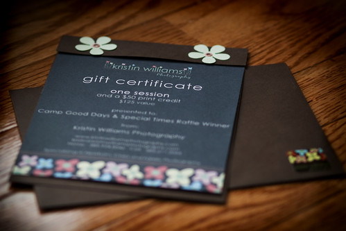 Gift Certificate New Logo Brown Gift Certificate I