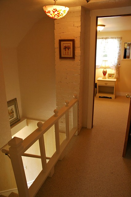 Renovation: upstairs hallway with short railing | Flickr ...