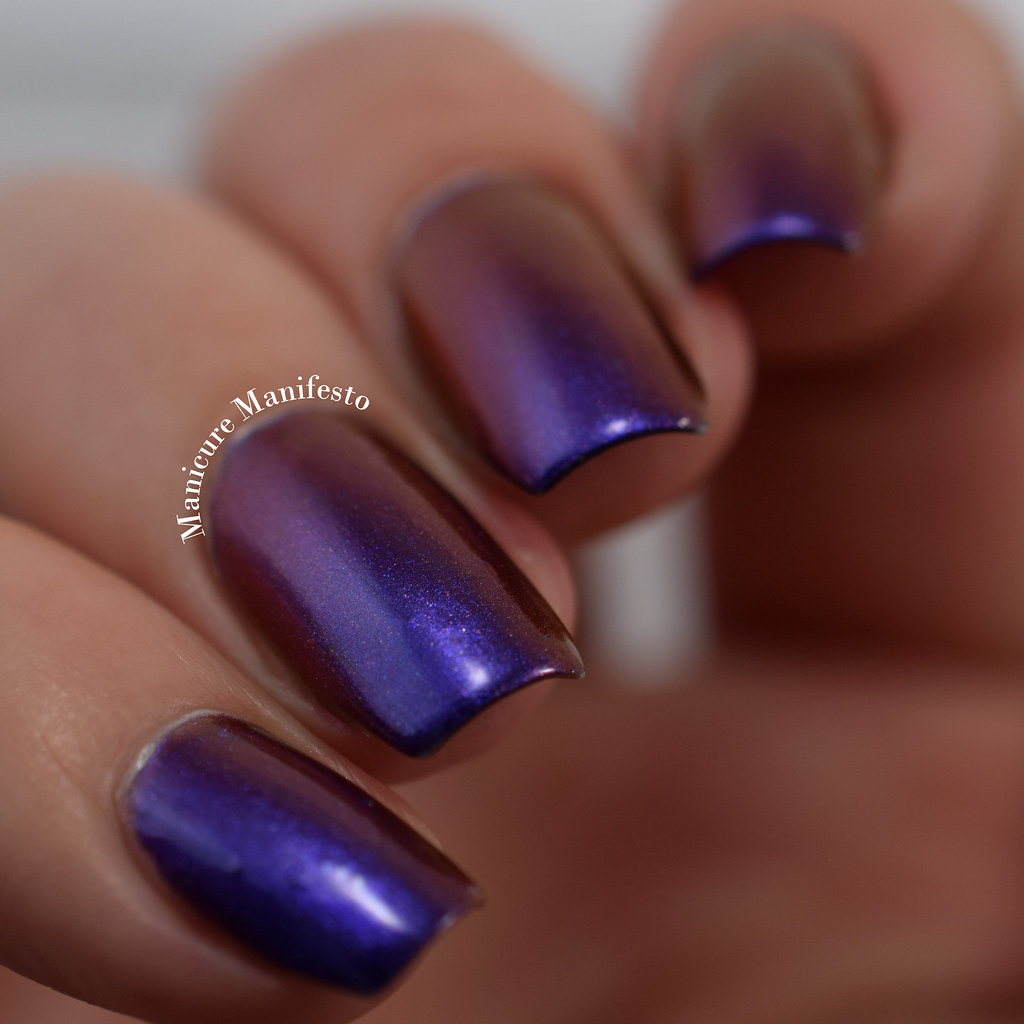 Purple blue multichrome nail polish
