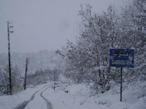 Zabbougha Ski Lebanon Snow Mount Lebanon Middle East Maten