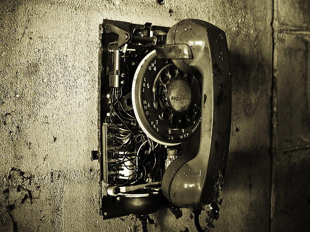 Old Phone Broken Rotary Phone At The F And M Packing