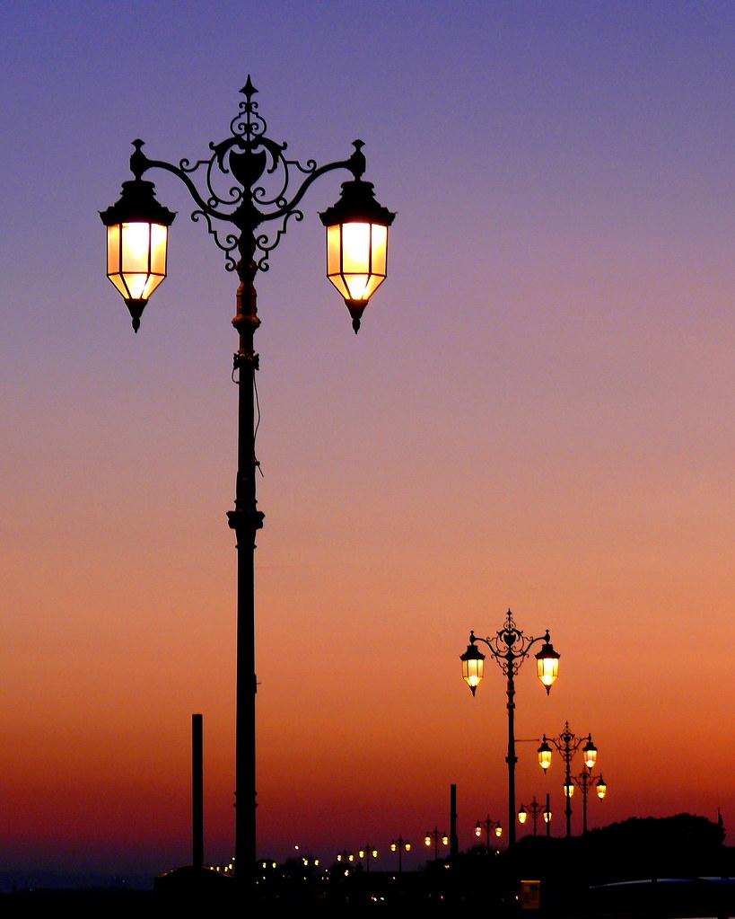 Street Lights At Sunset, Southsea