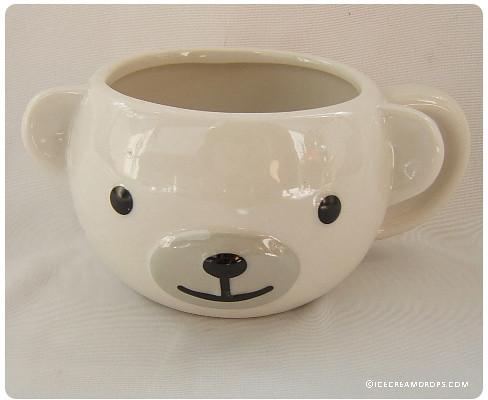 white polar bear porcelain animal face mug cup icecream