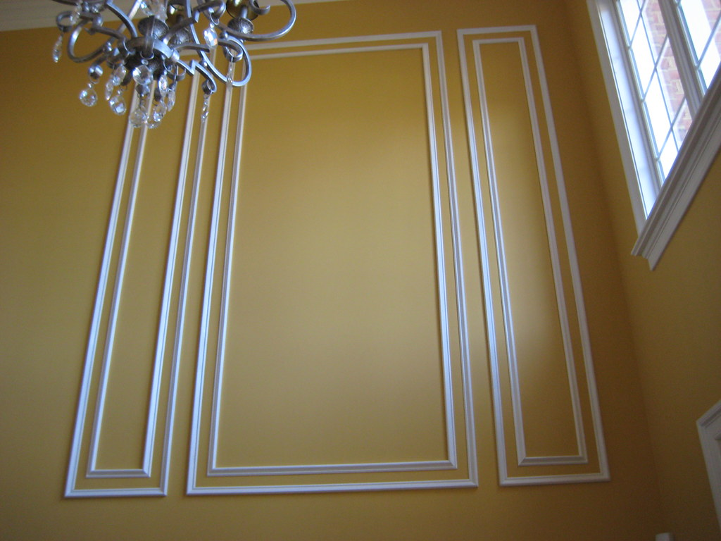 Shadow Box Wainscoting Wood Paneling On A Wall Also