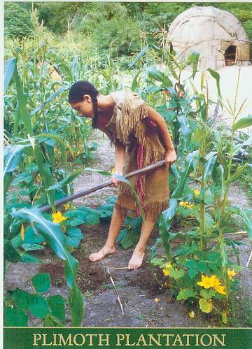 Plymouth Native American Woman Gardening Rubycantfail