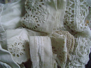 Dentelles anciennes vintage lace white blanc | by Massilianana