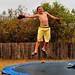 Jake on the frozen trampoline