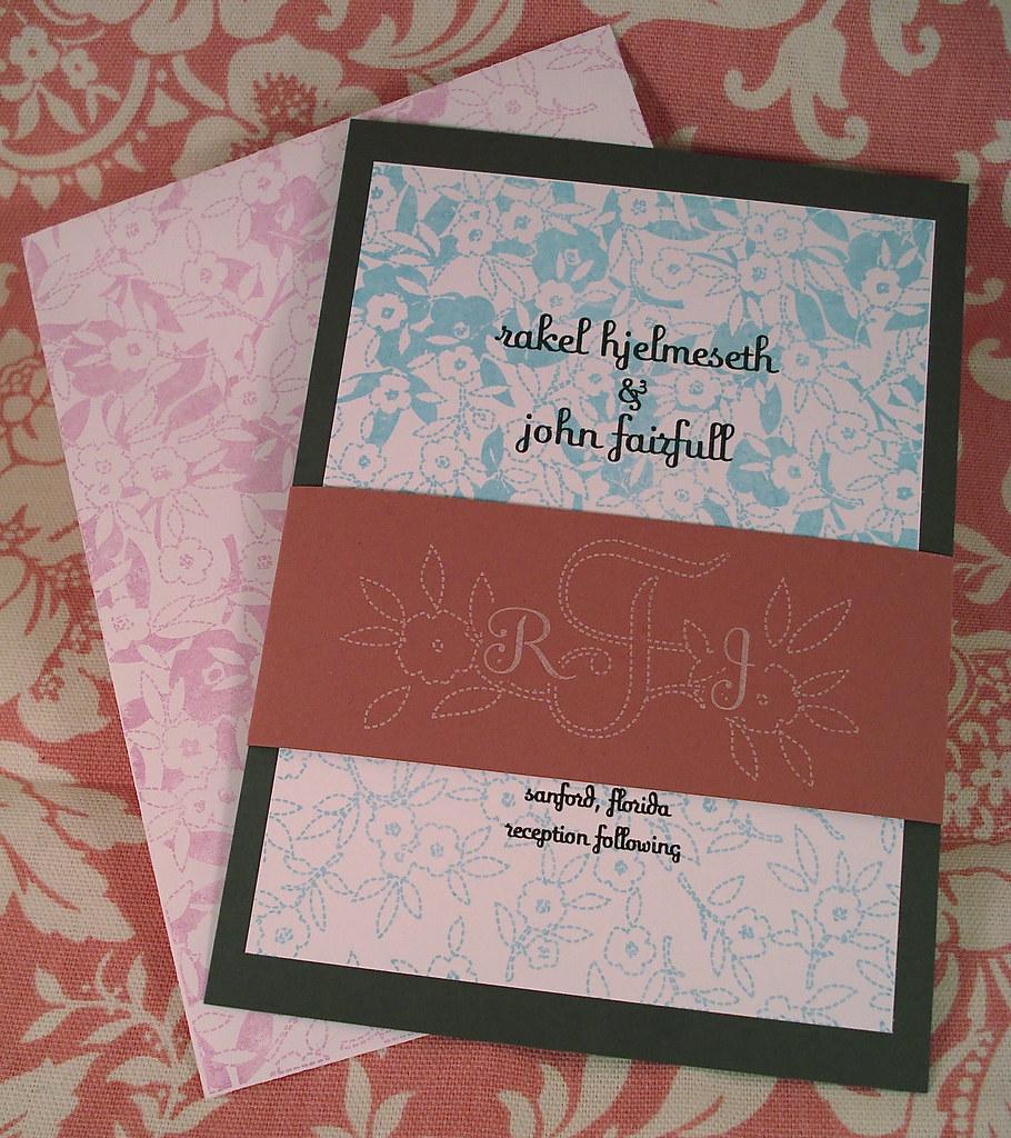 Wedding Invitations - Rakel and John | Rakel (ingero.etsy.co… | Flickr