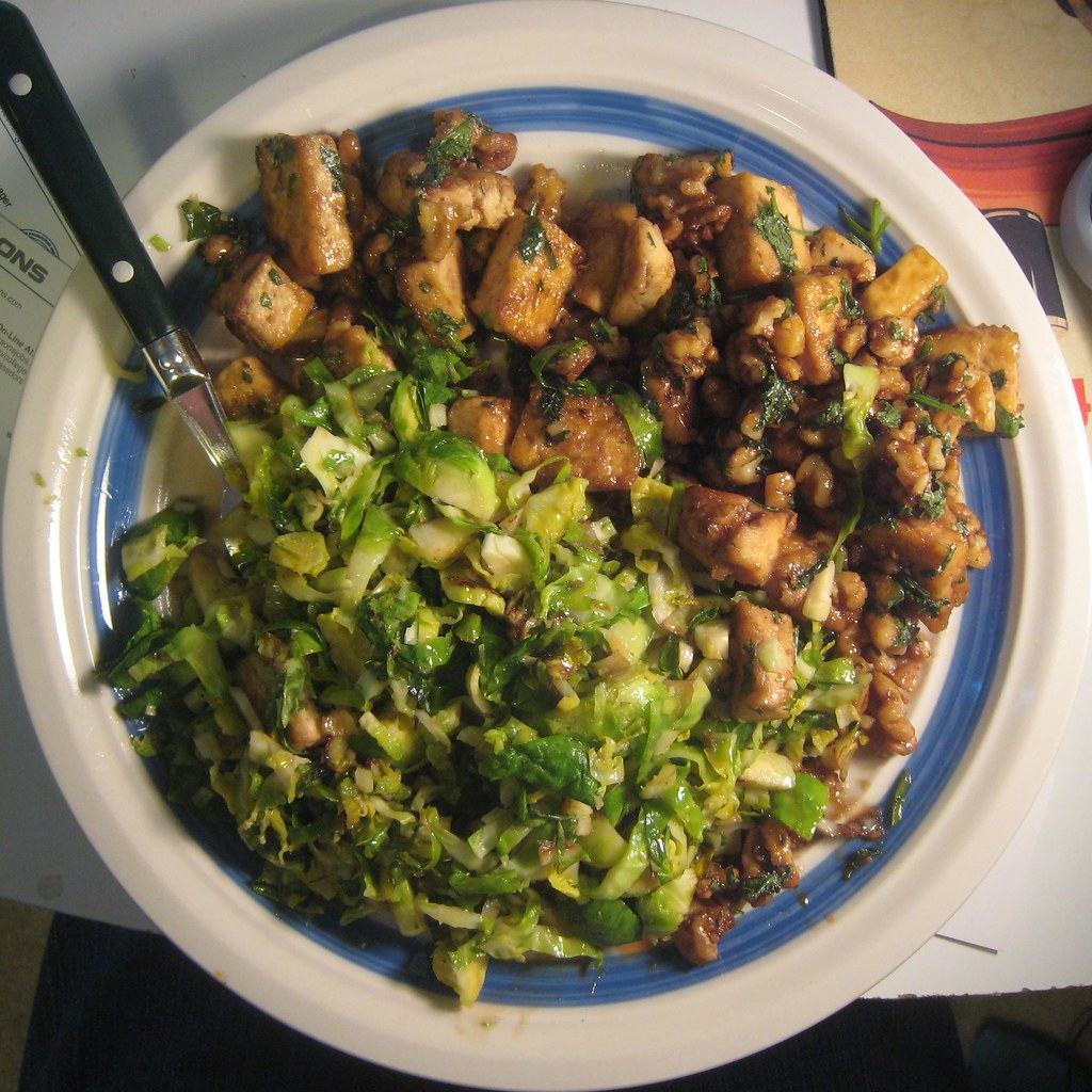 ... new favorite dinner | Caramelized Tofu and Brussels Sprou… | Flickr