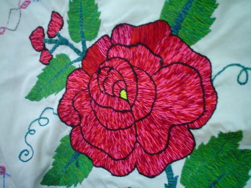 Mparr000014 bordado a mano bordado a mano en tela 100 alg flickr - Flores de telas hechas a mano ...