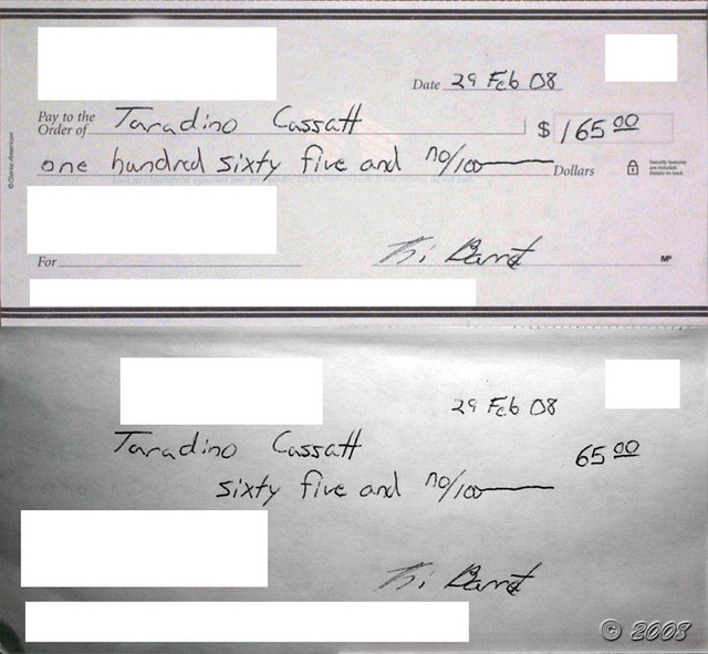 Forged Check (visible/IR) | Example of a forged check that h… | Flickr