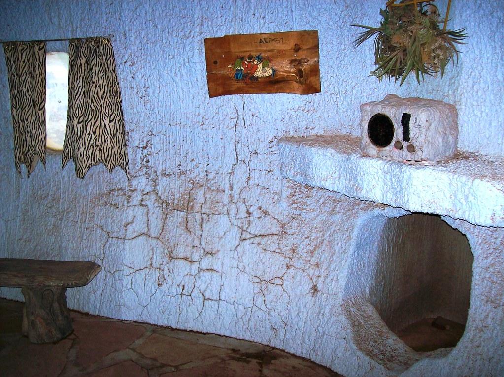 Inside The Flintstone S House At Bedrock City Arizona A