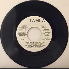 SMOKEY ROBINSON:I'VE MADE LOVE TO YOU A THOUSAND TIMES(RECORD SIDE-A)