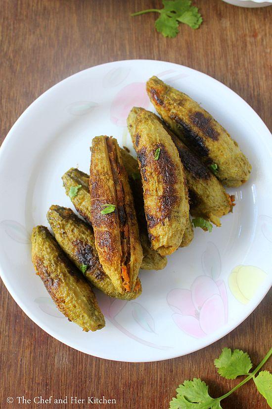 punjabi style bharwan karela