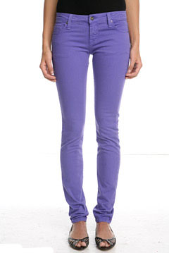 2019 year style- Purple light skinny jeans