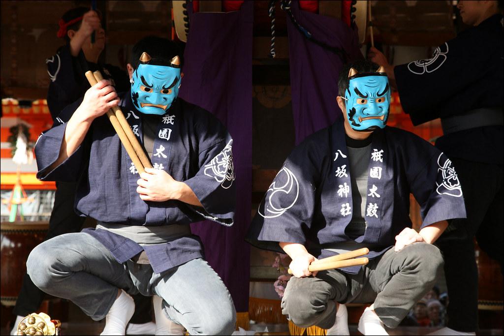 S E T S U B U N Blue Devils Members Of The Gion Taiko Gr Flickr