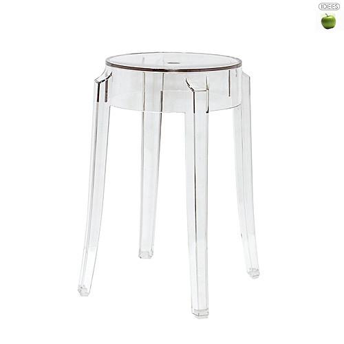 tabouret charles ghost bas transparent kartell tabouret. Black Bedroom Furniture Sets. Home Design Ideas