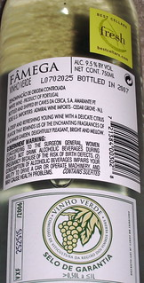 Famega NV Vinho Verde (back) | by 2 Guys Uncorked