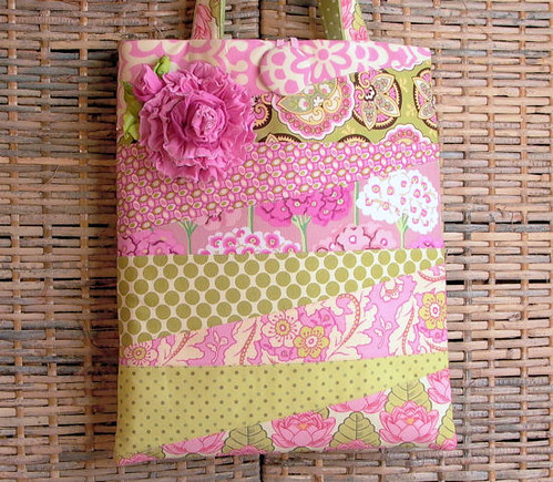 Pink Patchwork Tote Bag Purse