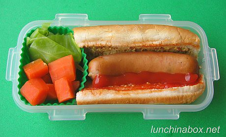 Mini hot dog bento lunch for preschooler | by Biggie*