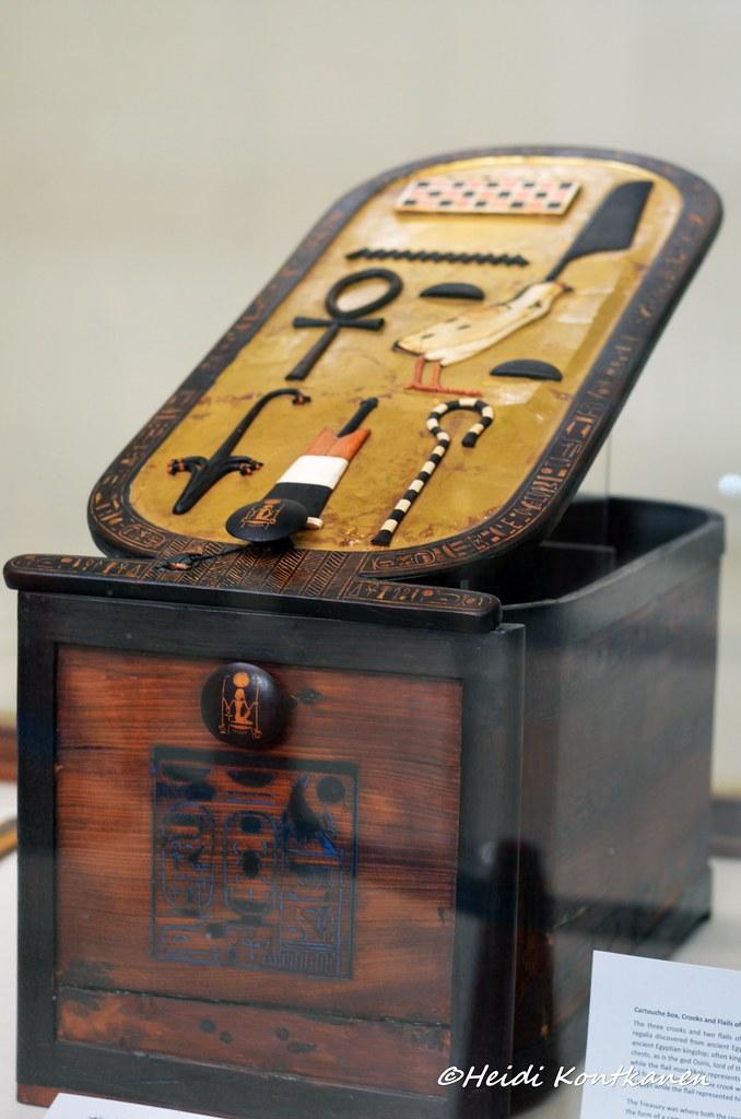 Cartouche Box Of Tutankhamun Inlaid Wooden Cartouche Box