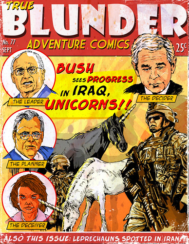 Bush Sees Progress in Iraq, Unicorns | by The Searcher