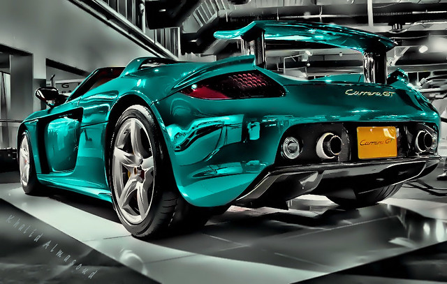 Turquoise Carrera GT | I took this shot from Exhibition of ...