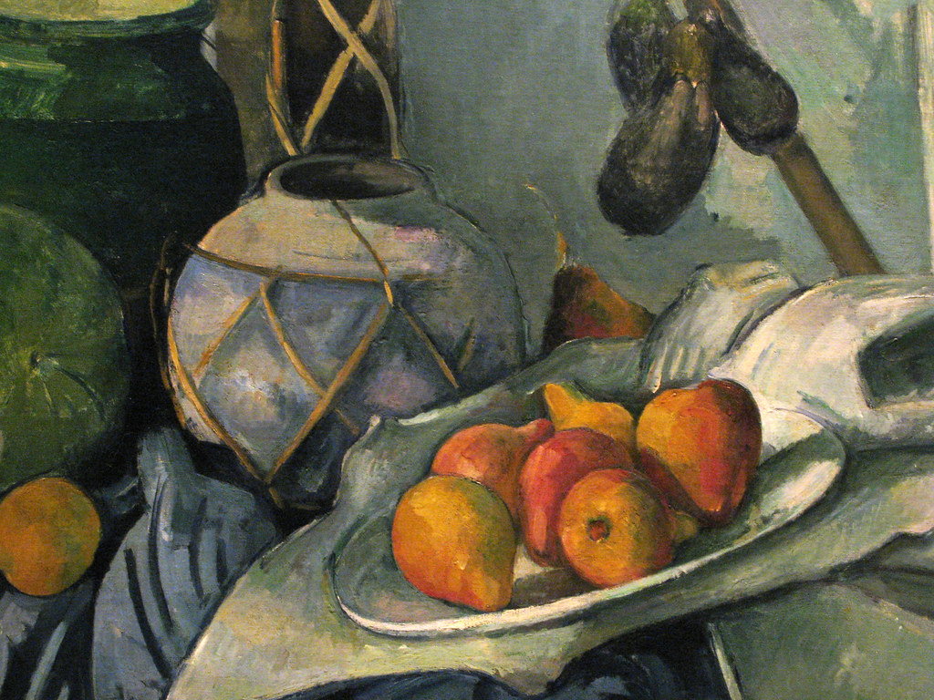 Cezanne Still Life with Ginger Jar and Eggplants (detail ...