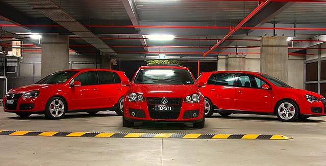 Golf Mark 5 Golf Gti Mark 5 Red x 3