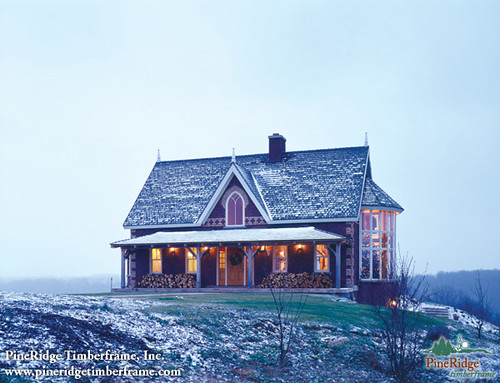 Custom timber frame home pineridge timberframe the Ontario farmhouse plans