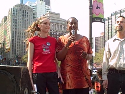 Former Green Party 2008 presidential candidate Cynthia McKinney at the Free Mumia rally in Philadelphia on April 19, 2008. | by Pan-African News Wire File Photos