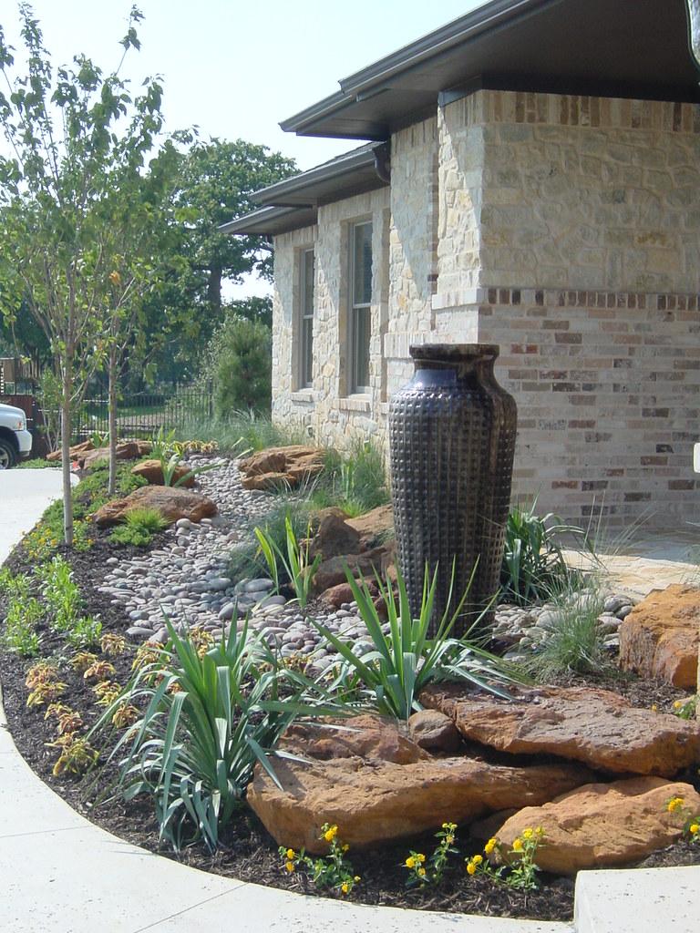 custom landscape design and cobblestone drainage dry creek u2026 flickr